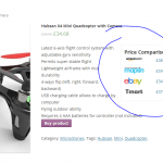 Adds price comparison to woocommerce and wordpress